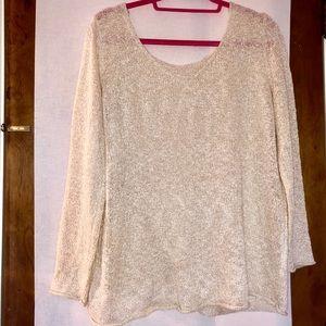 Sweaters - Cream knit sweater